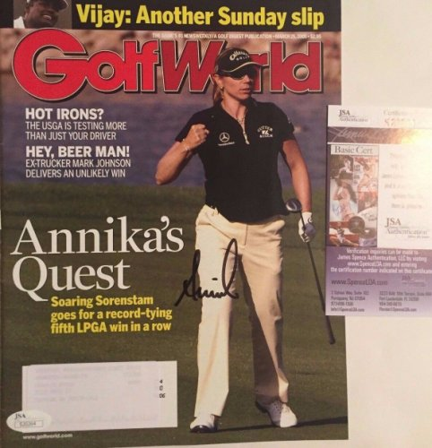 Annika Sorenstam Autographed Signed Complete Golf World Magazine JSA COA