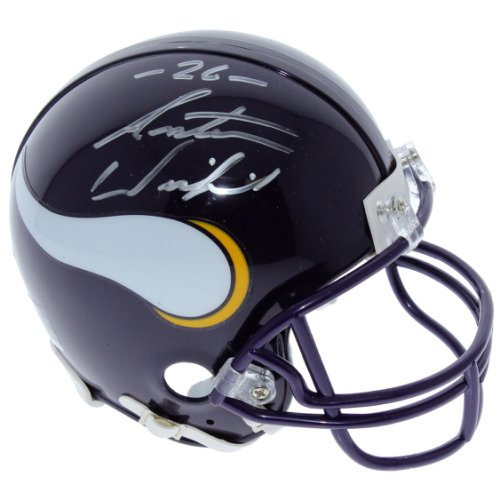 82559610750 Antoine Winfield Minnesota Vikings Autographed Signed Riddell Throwback  Mini Helmet - PSA/DNA Authentic