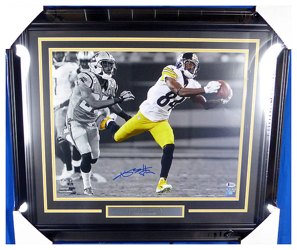 6c3b81b43 Antonio Brown Autographed Signed Framed 16x20 Photo Pittsburgh Steelers -  Beckett Authentic