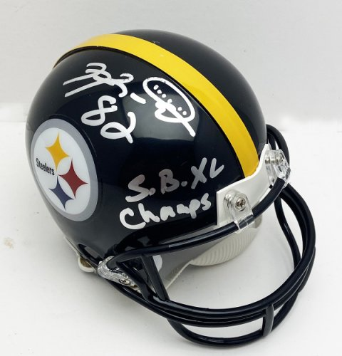 Antwaan Randle El Autographed Signed Pittsburgh Steelers Mini Helmet with S.B. XL Champs Inscription - JSA Authentic
