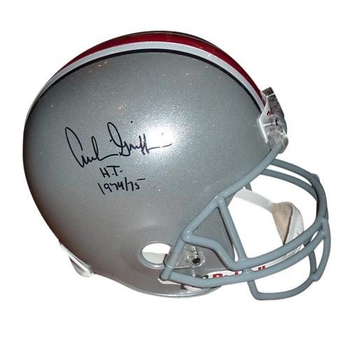a14a7a53bc3 Archie Griffin Autographed Signed Auto Ohio State Buckeyes Deluxe Full-Size  Replica Helmet H.T. 1974