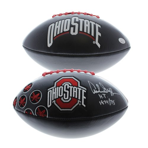 9b0207445c7 Archie Griffin Autographed Signed Ohio State Buckeyes Black Football W   H.T. 1974 75 -