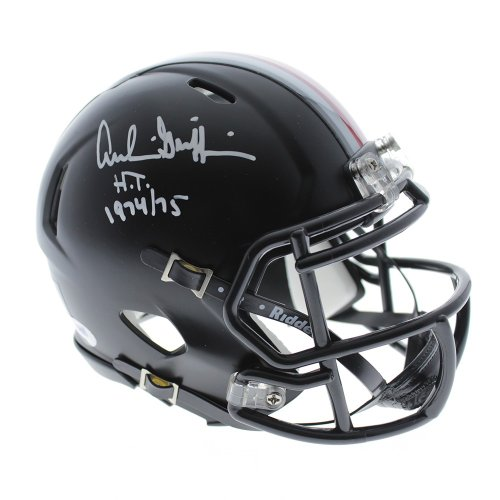 5cead52128e Archie Griffin Autographed Signed Ohio State Buckeyes Riddell Black Mini  Helmet W  HT 1974