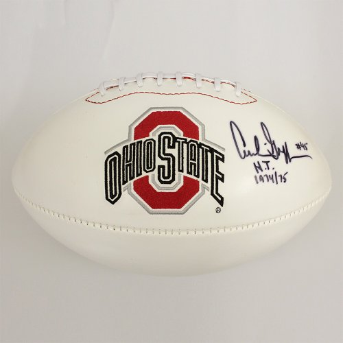 639fd1c0684 Archie Griffin Autographed Signed Ohio State Buckeyes White Panel Football  - Right Signature - H.T. 1974