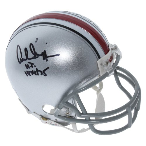 86cb484bad6 Archie Griffin Ohio State Buckeyes Autographed Signed Riddell Mini Helmet  with H.T. 1974 75 Inscription
