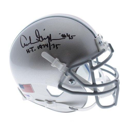 Archie Griffin Ohio State Buckeyes Schutt Silver Mini Helmet W/ H.T. 1974/75 Ins - PSA/DNA Certified Authentic