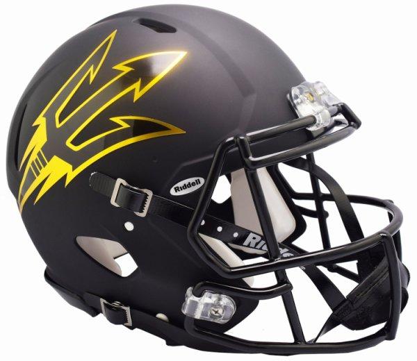 Arizona State Sun Devils Speed Football Helmet Satin Black