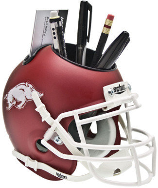 Arkansas Razorbacks NCAA Football Schutt Mini Helmet Desk Caddy