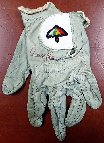 Arnold Palmer Autographed Signed Tournament Used Golf Glove Vintage Signature With Envelope From Palmer - PSA/DNA Certified