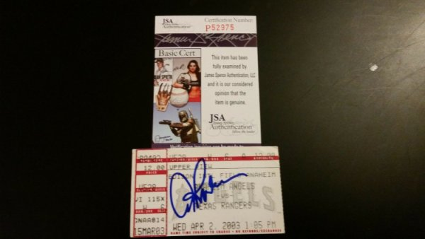 Arod Alex Autographed Signed Rodriguez #300Th Hr Home Run Ticket Stub JSA COA