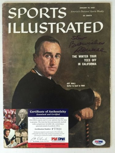Art Wall Autographed Signed Sports Illustrated Autograph Auto PSA DNA Certified Authentic