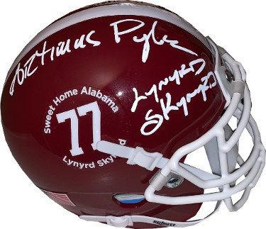 Artimus Pyle Autographed Signed Memorabilia Lynyrd Skynyrd Alabama Crimson Tide Schutt Football Mini Helmet #77 - JSA Authentic