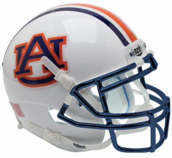 Auburn Tigers Full XP Replica Football Helmet Schutt Chrome Mask
