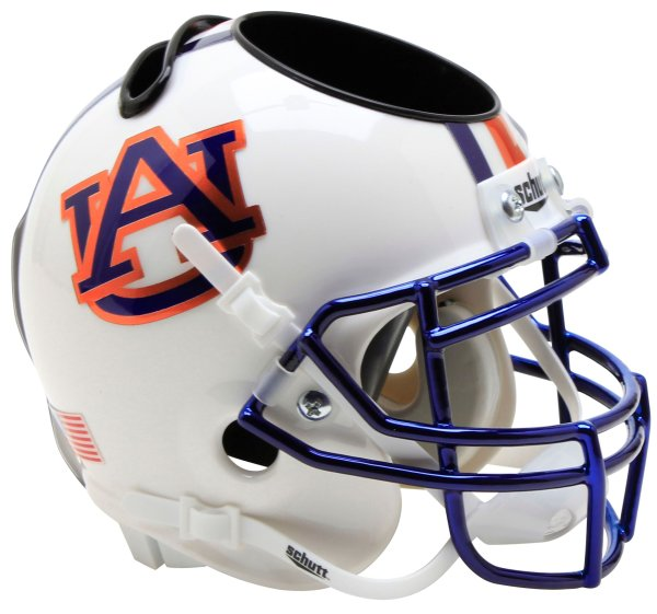 Auburn Tigers Miniature Football Helmet Desk Caddy Chrome Mask