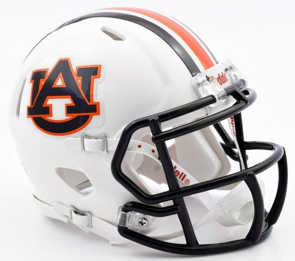 Auburn Tigers NCAA Mini Speed Football Helmet Chrome Decal 2016