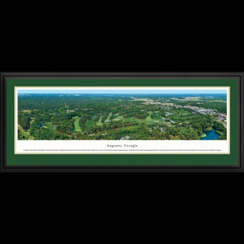 Augusta National Golf Course (Aerial) Deluxe Framed Panoramic Photo