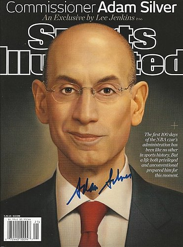 Autographed Signed Adam Silver Nba Sports Illustrated Magazine - Certified Authentic