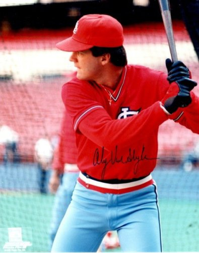 Autographed Signed Andy Van Slyke 8X10 St. Louis Cardinals Photo