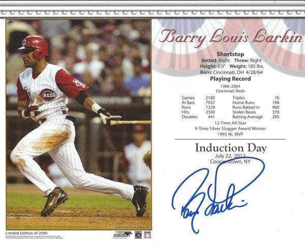 Barry Larkin Autographed Memorabilia | Signed Photo, Jersey