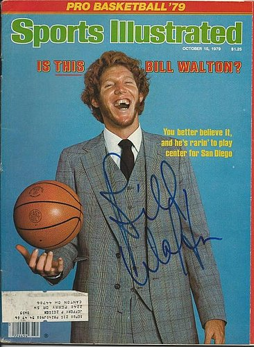 Autographed Signed Bill Walton Sports Illustrated Magazine - Certified Authentic