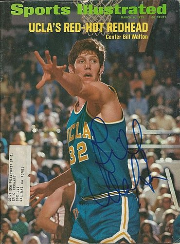 Autographed Signed Bill Walton Ucla Sports Illustrated Magazine - Certified Authentic