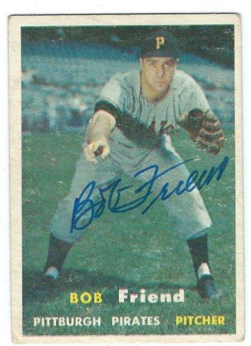 Bob Friend Autographed Memorabilia Signed Photo Jersey