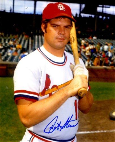 Autographed Signed Bob Stinson 8X10 St. Louis Cardinals Photo
