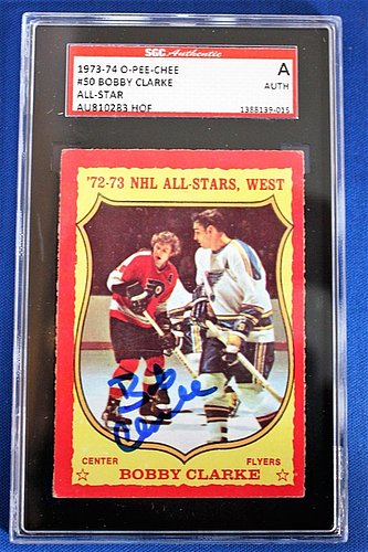 Autographed Signed Bobby Clarke 1973-74 O-Pee-Chee Hockey Card #50 Sgc Slabbed - Certified Authentic