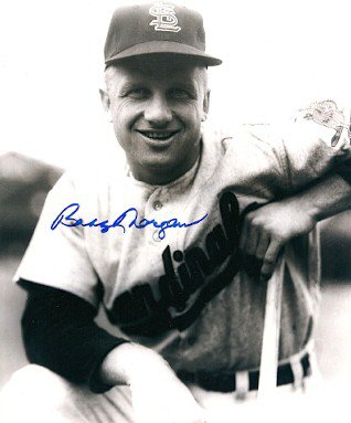 Autographed Signed Bobby Morgan St. Louis Cardinals Photo
