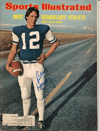 Autographed Signed Bruce Hardy Sports Illustrated - Certified Authentic