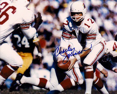 Autographed Signed Charley Johnson Photo St. Louis Cardinals