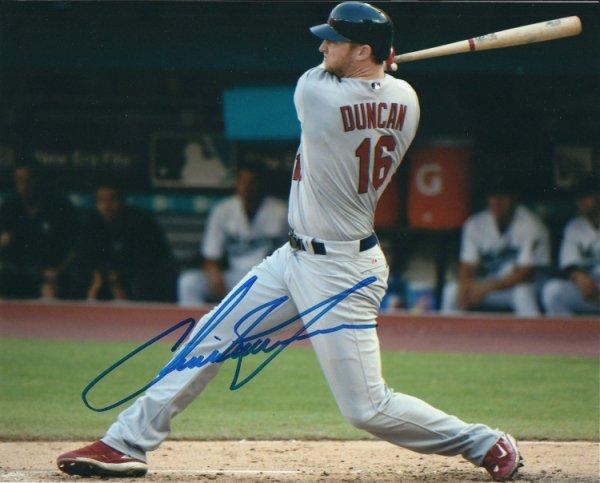 Autographed Signed Chris Duncan 8X10 St. Louis Cardinals Photo