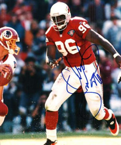 Autographed Signed Clyde Simmons Photo Arizona Cardinals