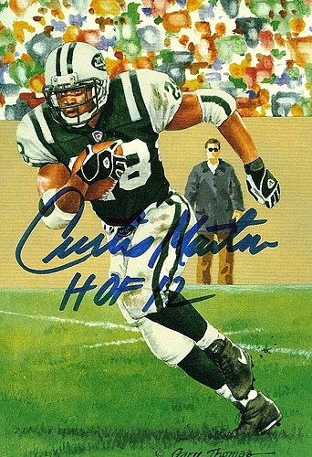 9b997ff5f Autographed Signed Curtis Martin Goal Line Art Card - Certified Authentic