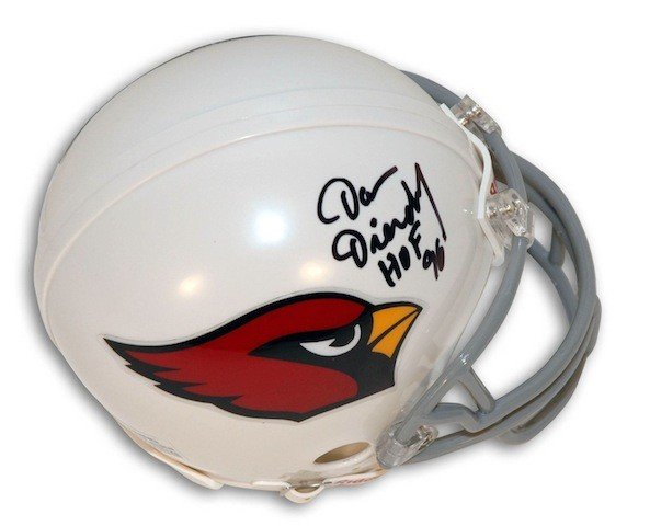 Autographed Signed Dan Dierdorf St. Louis Cardinals Riddell Replica Mini Helmet Inscribed HOF 96 - COA Included