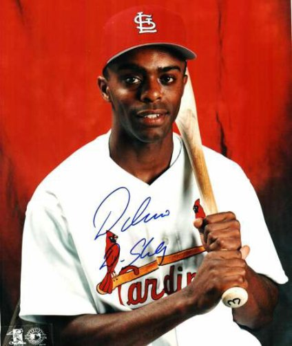 Autographed Signed Delino Deshields St. Louis Cardinals Photo