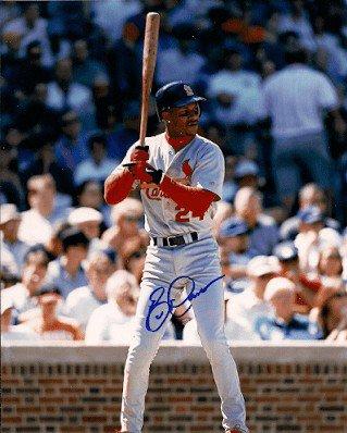 Autographed Signed Eric Davis St. Louis Cardinals Photo