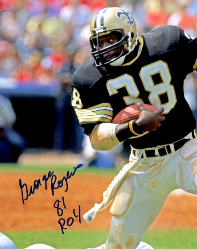 Autographed Signed George Rogers 8X10 New Orleans Saints Photo