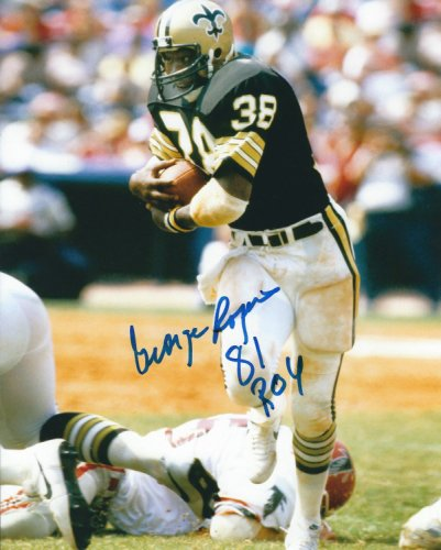 Autographed Signed George Rogers 8X10 New Orleans Saints Photo