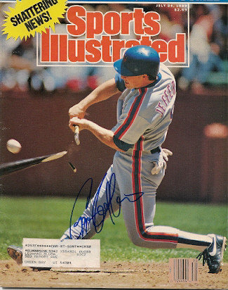 Autographed Signed Greg Jeffries Sports Illustrated - Certified Authentic