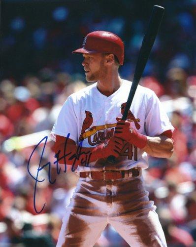 Autographed Signed Jeremy Hazelbaker 8X10 St. Louis Cardinals Photo