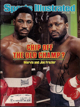 Autographed Signed Joe Frazier Sports Illustrated - Certified Authentic