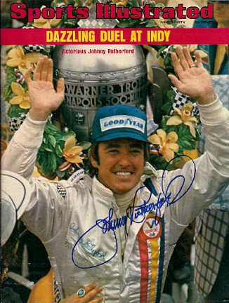 Autographed Signed Johnny Rutherford Sports Illustrated - Certified Authentic