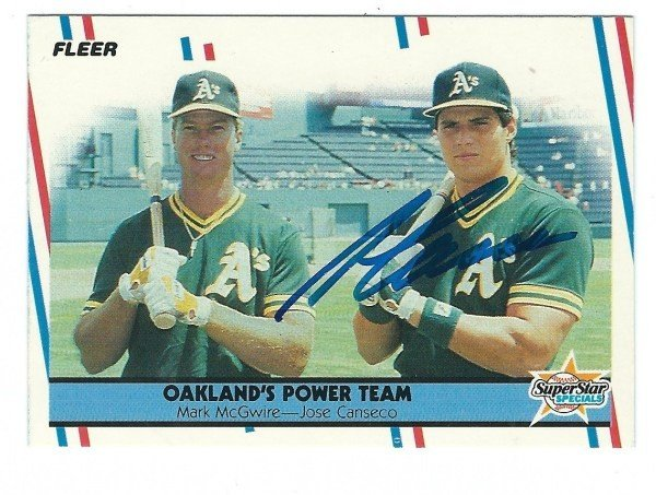 Signed Jose Canseco Autographed 8x10 Photo Oakland As Bash