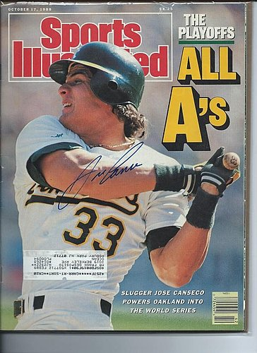 Autographed Signed Jose Canseco Oakland A's Sports Illustrated Magazine - Certified Authentic