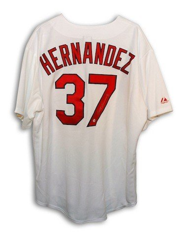 Autographed Signed Keith Hernandez St Louis Cardinals White Majestic Throwback Jersey - COA Included