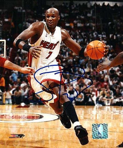 8e095ca313a1 Autographed Signed Lamar Odom Miami Heat 8x10 Photo - Certified Authentic