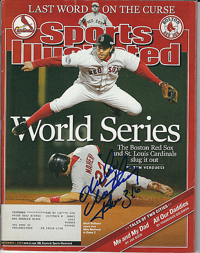 Autographed Signed Mike Matheny Louis Cardinals Sports Illustrated Magazine 11/1/04 - Certified Authentic