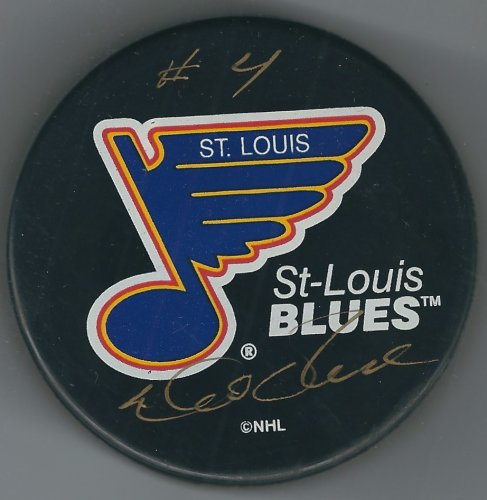Autographed Signed Noel Picard St. Louis Cardinals Hockey Puck