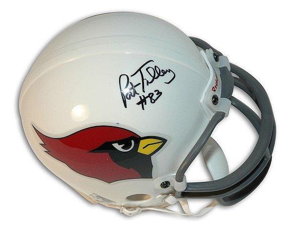 Autographed Signed Pat Tilley St. Louis Cardinals Riddell Replica Mini Helmet - COA Included
